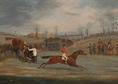 Painting - Scenes From A Steeplechase - Near The Finish by Treasury Classics Art