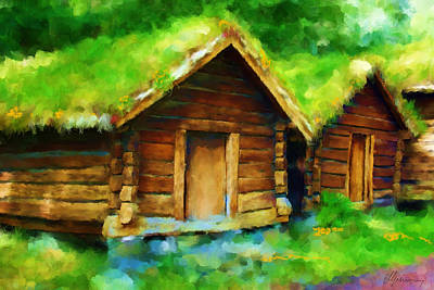 Shed Painting - Scenes From Norway by Michael Greenaway