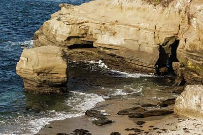 Photograph - Scenes From Shell Beach In La Jolla - 2 by Hany J