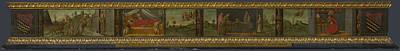 Digital Art - Scenes From The Life Of Saint Jerome   Predella by Francesco Botticini