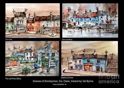 Painting - Scenes Of Ennistymon 4 by Val Byrne