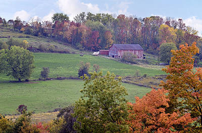 Amish Farms Photograph - Scenic Amish Landscape 1 by SharaLee Art