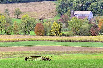 Amish Farms Photograph - Scenic Amish Landscape 4 by SharaLee Art