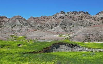 Photograph - Scenic Badlands by John M Bailey