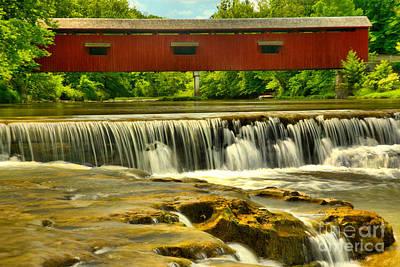 Photograph - Scenic Cataract Falls Bridge by Adam Jewell