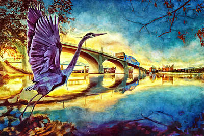 Photograph - Scenic City Heron by Steven Llorca