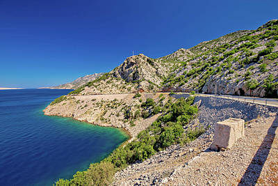 Photograph - Scenic Coastal Road Under Velebit Mountain by Brch Photography