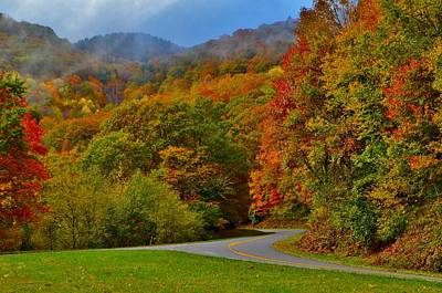 Smokey Mountain Drive Photograph - Scenic Drive by Dennis Nelson