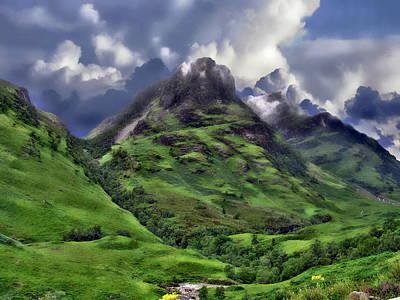 Digital Art - Scenic Glen Coe by Anthony Dezenzio