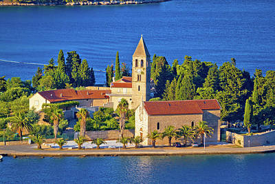 Photograph - Scenic Island Of Vis Church And Waterfront View by Brch Photography