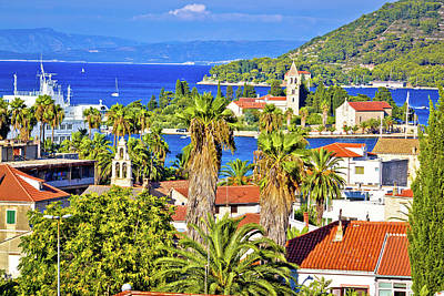 Photograph - Scenic Island Of Vis Waterfront View by Brch Photography