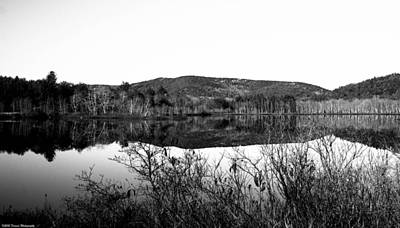 Photograph - Scenic Lake On The Kancamangus Black And White by Debra Forand