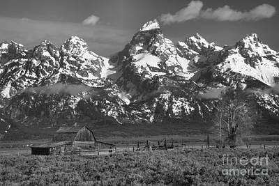 Scenic Mormon Homestead Black And White Art Print by Adam Jewell