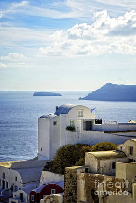 Scenic Oia Print by HD Connelly