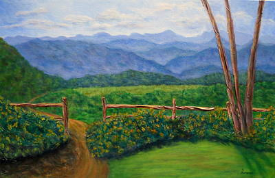 Scenic Overlook Print by Sandy Hemmer