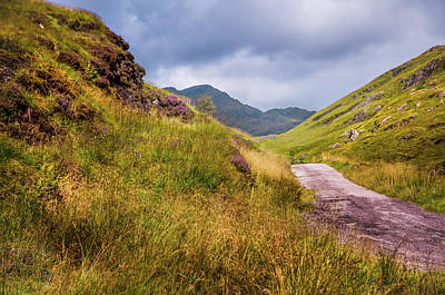 Photograph - Scenic Path At Rest And Be Thankful. Scotland by Jenny Rainbow