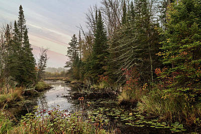 Photograph - Scenic Still River Sunset Scene by Patti Deters