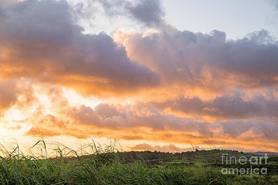 Photograph - Scenic Sunset In Poipu, Kauai Island by Julia Hiebaum