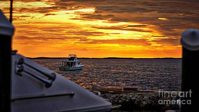 Scenic Sunset On The Keys Art Print by Dieter  Lesche