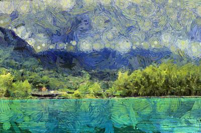 Scenic Swiss Landscape Art Print