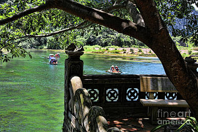 Photograph - Scenic Tam Coc Boat Tour by Chuck Kuhn