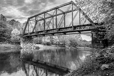 Photograph - Scenic Trestle In The Smoky Mountains In Black And White by Debra and Dave Vanderlaan