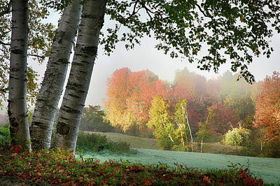 Photograph - Scenic Vermont Foggy Lanscape by Jeff Folger