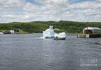 Lake Photograph - Scenic View At Red Bay Harbour, Labrador by Dani Prints and Images