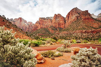 Photograph - Scenic View At Zion National Park  by Daniela Constantinescu