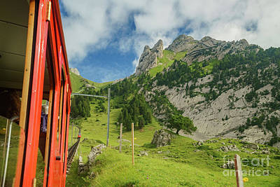 Animal Paintings David Stribbling - Scenic view from the special train climbing up to the Mount Pila by Chon Kit Leong