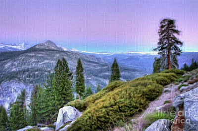 Painting - Scenic View From Yosemite Glacier Point Ap by Dan Carmichael