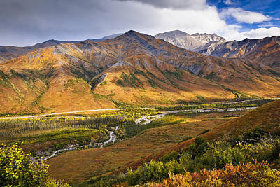 Dalton Highway Photograph - Scenic View Of Brooks Range, Dietrich by Sunny Awazuhara- Reed