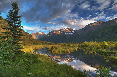Scenic View Of Eagle River Valley Art Print by Michael Jones