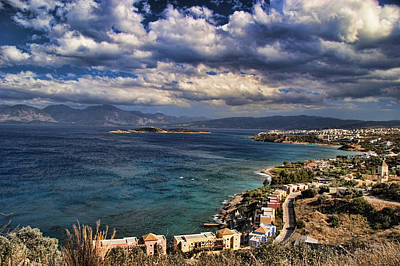 Scenic View Of Eastern Crete Print by David Smith
