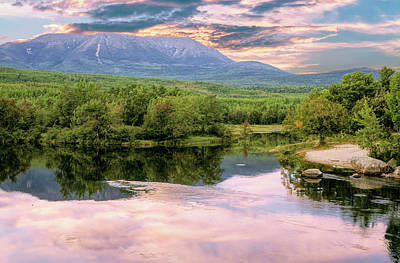 Digital Art - Scenic View Of Mt. Katahdin Maine by Rusty R Smith