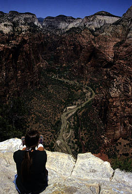 Scenic View Of Zion National Park Art Print by Stacy Gold