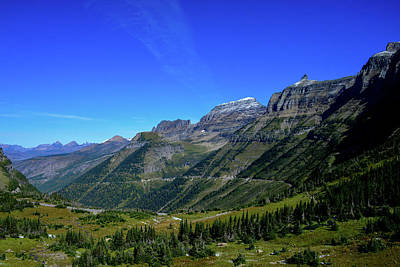 Photograph - Scenic Vista Of The Rocky Mountains In Glacier National Park by Marilyn Burton