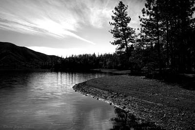 Scenic Photograph - Scenic Whiskeytown Lake B And W by Joyce Dickens