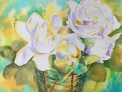 Painting - Scent Of Gardenias  by Tara Moorman