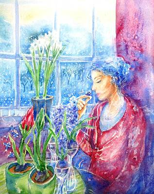 Painting - Scent Of Hyacinths by Trudi Doyle