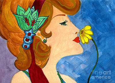 Scent Of Spring Art Print by Norma Appleton