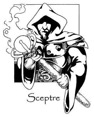 Drawing - Sceptre by John Haldane