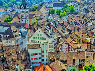 Photograph - Schaffhausen Rooftops  by Connie Handscomb