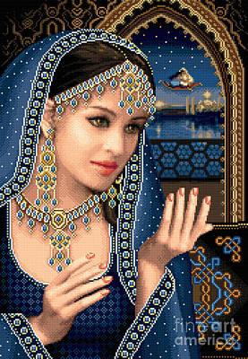 Tapestry - Textile - Scheherazade by Stoyanka Ivanova