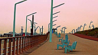 Hangout Digital Art - Scheveningen Boulevard by Marco De Mooy