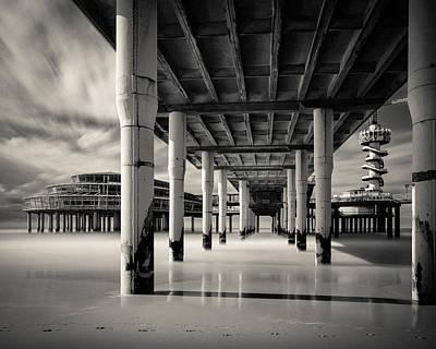 Impressionist Landscapes - Scheveningen Pier 3 by Dave Bowman