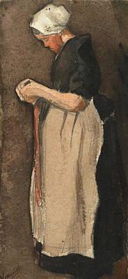 Scheveningen Woman, 1881 Art Print by Vincent Van Gogh