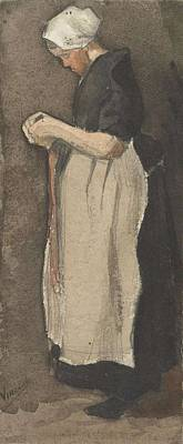 Painting - Scheveningen Woman The Hague, November - December 1881 Vincent Van Gogh 1853  189 by Artistic Panda