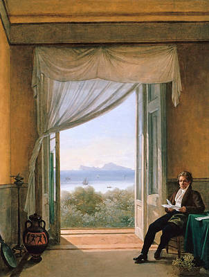 Painting - Schinkel In Naples by Franz Ludwig Catel