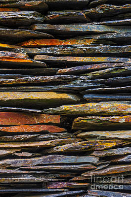 Rock Wall Photograph - Schist House Detail by Carlos Caetano